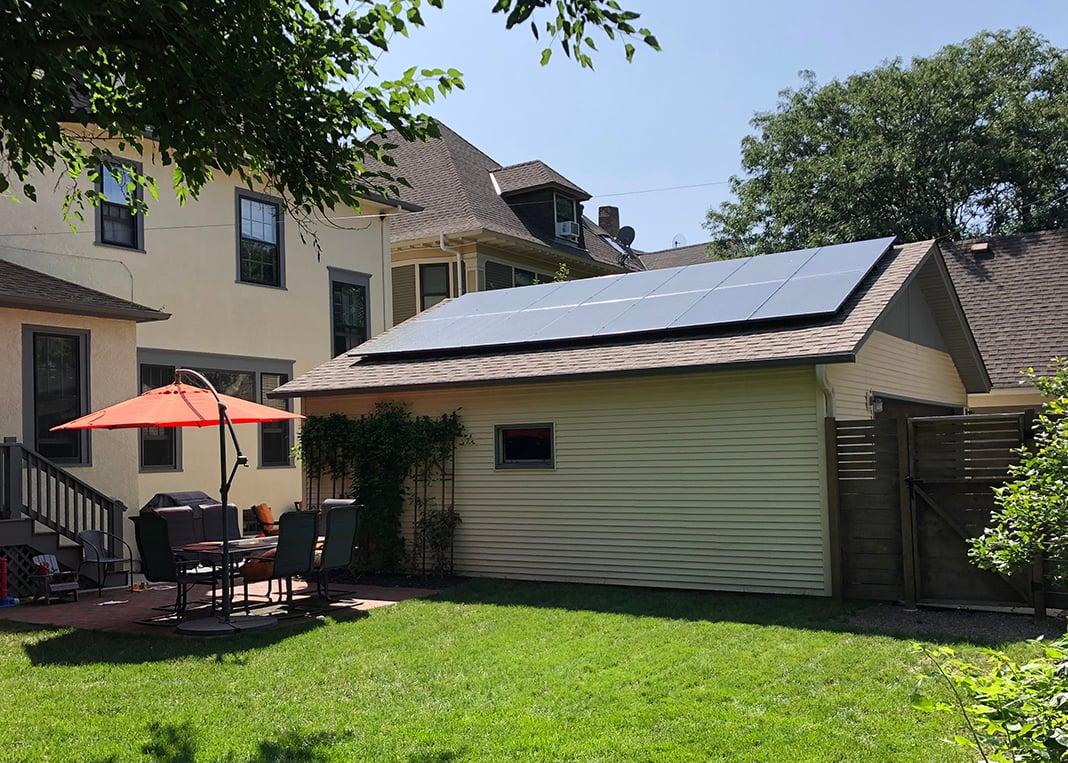 All Energy Solar - Garage Solar Installation