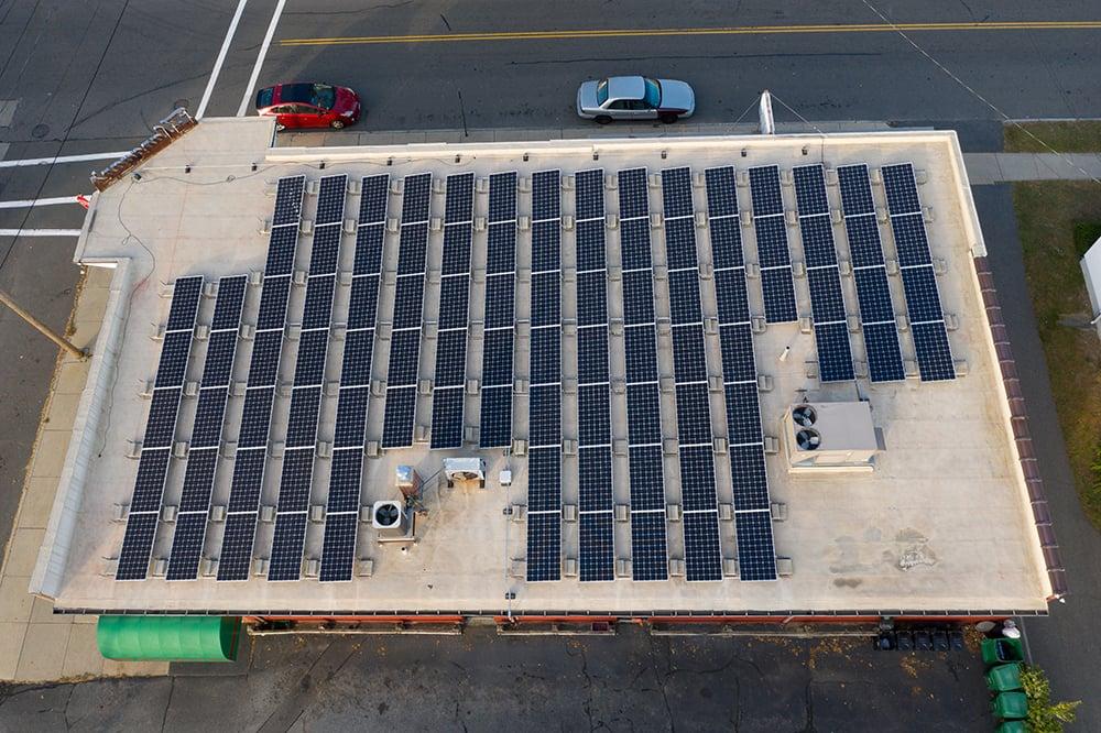 Flanagans Package Store Chicopee Massachusetts Solar Installation