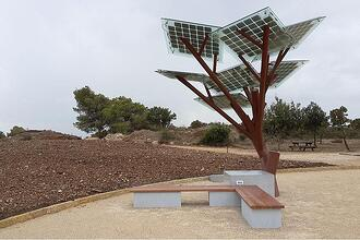 A nature park in Israel recently added solar trees to bring electricity, WiFi, and drinking water to their patrons.