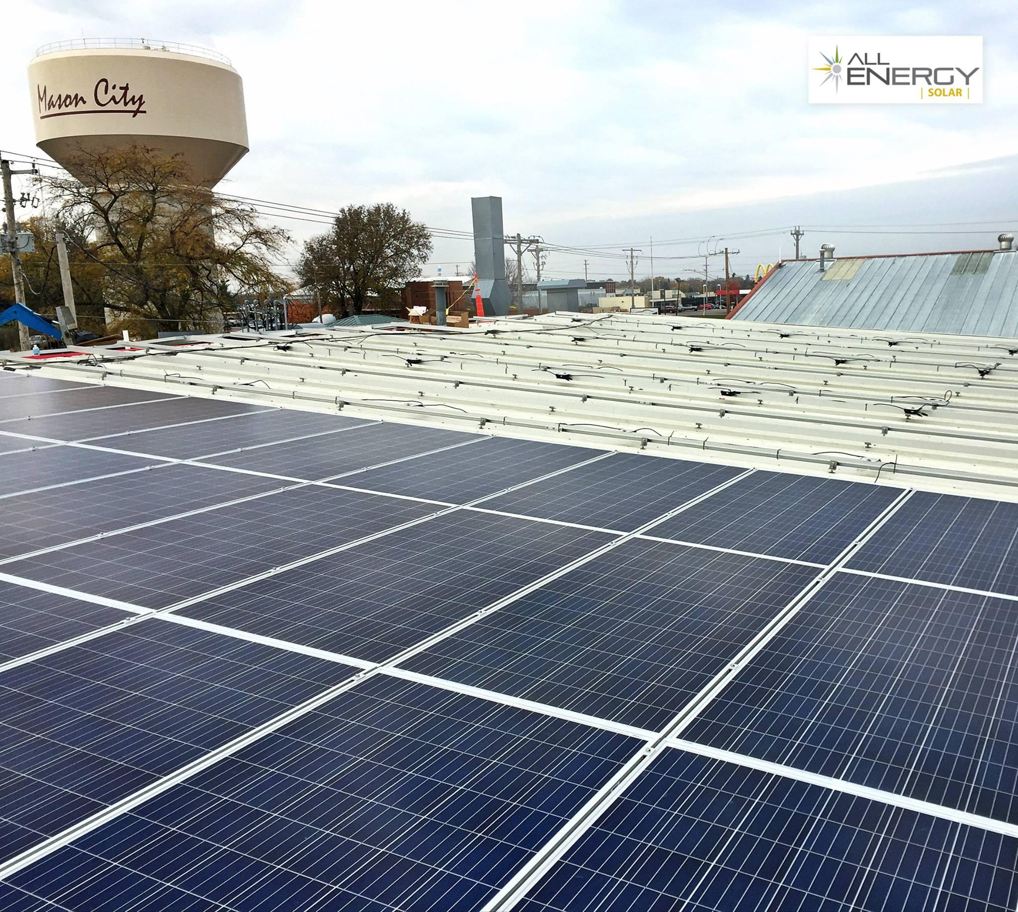 Mason City Iowa Solar Power Installation - All Energy Solar