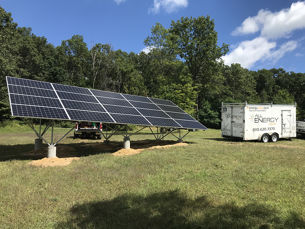 Massachusetts ground mount installation - All Energy Solar