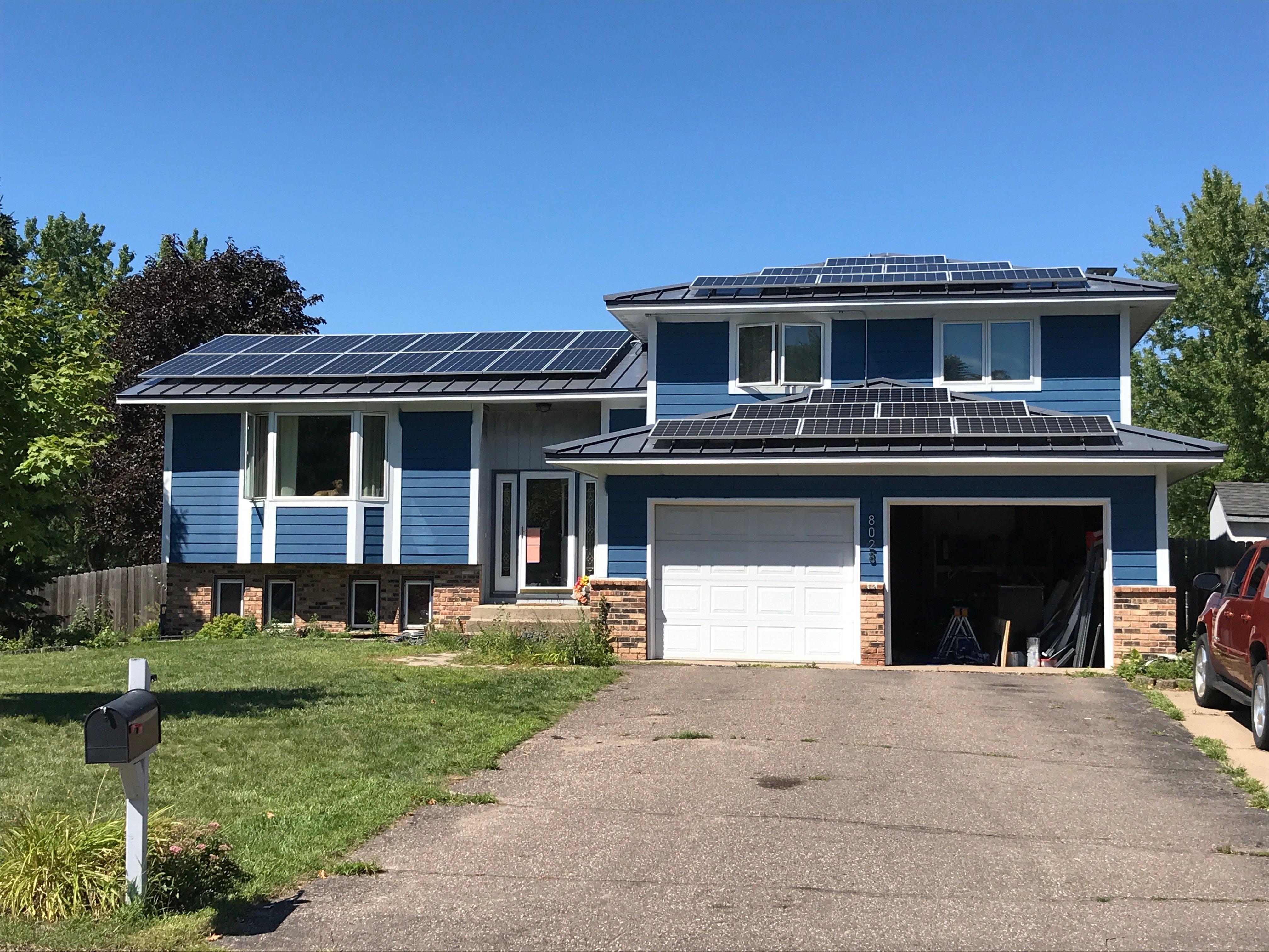 Minnesota residential solar power installation