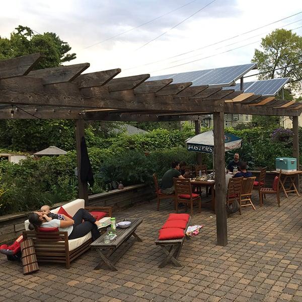 Saint Paul Home backyard pergola with Solar panels - All Energy Solar