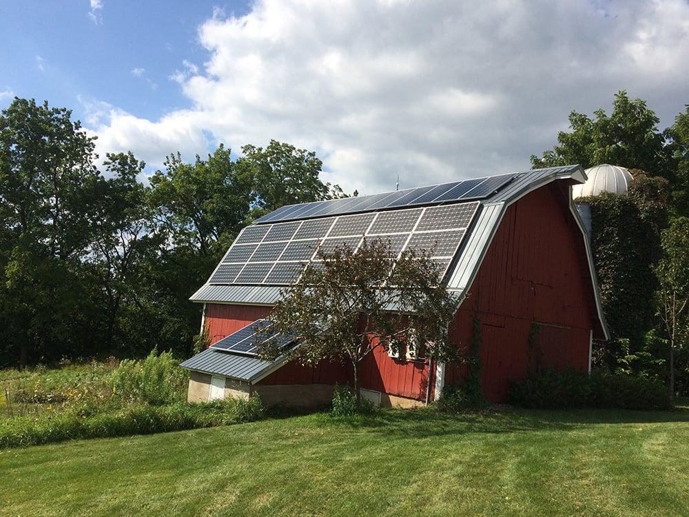 Stockholm Wisconsin Solar Power Farm Agriculture Barn - All Energy Solar