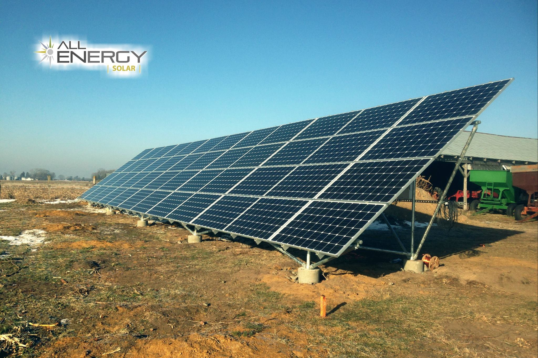 ground mount solar installation iowa farm