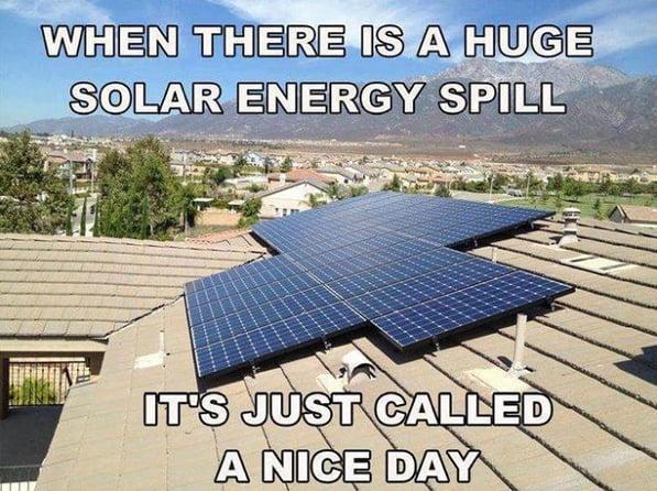 huge solar energy spill is just a nice day - all energy solar