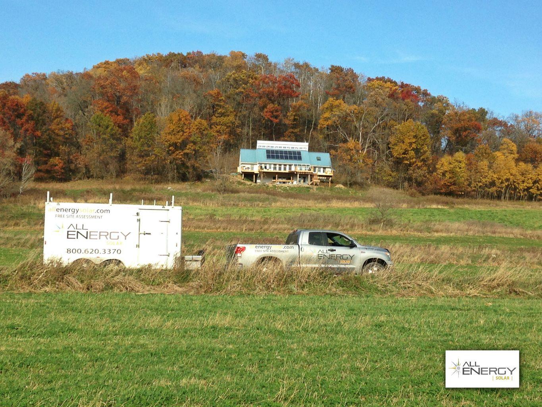 rural Wisconsin solar panel installation - All Energy SOlar