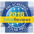 Pre-Screened Solar Pro: 2018 SolarReviews